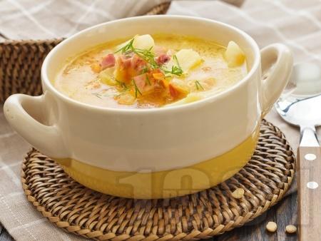 Картофена супа с бекон и копър - снимка на рецептата